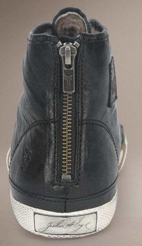 Frye Women's Greene High Back Zip Shearling Sneakers, Black, hi-res