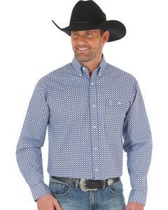 Wrangler 20X Men's Blue/Light Blue Advanced Comfort Competition Shirt, Blue, hi-res