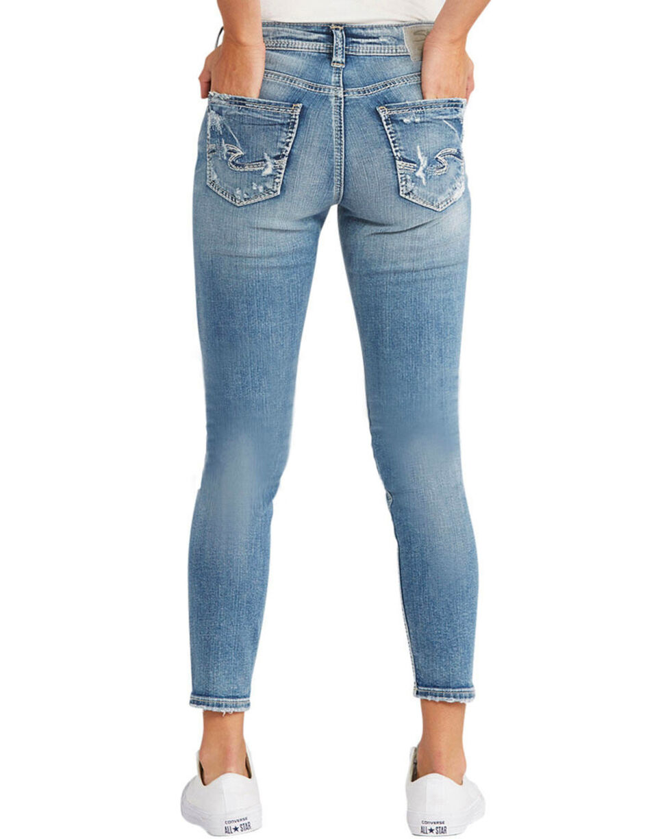 Silver Women's Avery Ankle Skinny Jeans  , Indigo, hi-res