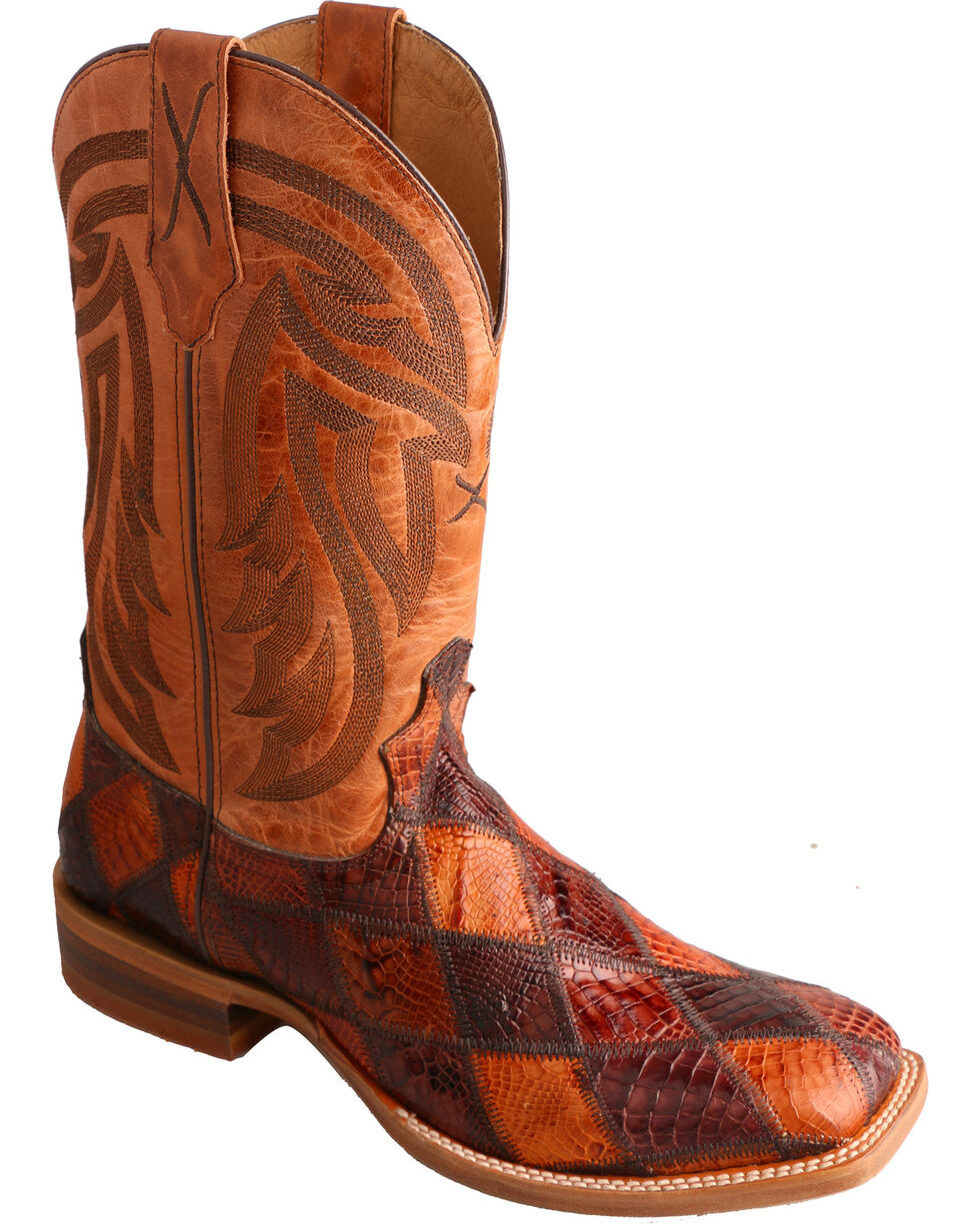 Twisted X Peanut Caiman Rancher Cowgirl Boots - Square Toe , , hi-res
