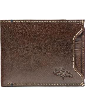 Jack Mason Men's Denver Broncos Stadium Sliding 2 in 1 Wallet , Brown, hi-res