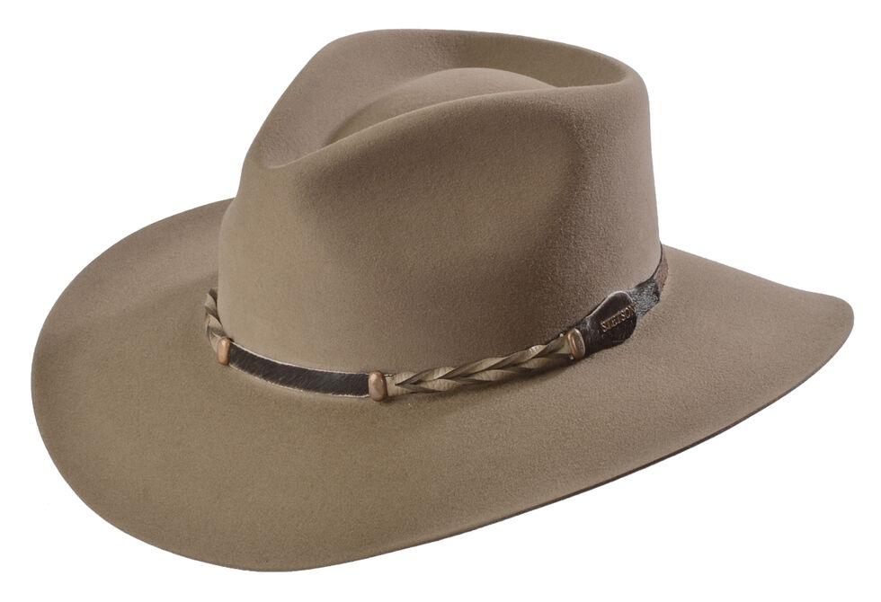 Stetson 4X Drifter Buffalo Felt Pinch Front Cowboy Hat, Stone, hi-res