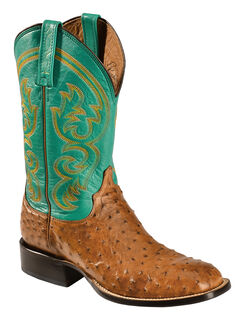 Lucchese Handcrafted 1883 Josiah Full Quill Ostrich Cowboy Boots - Square Toe, , hi-res