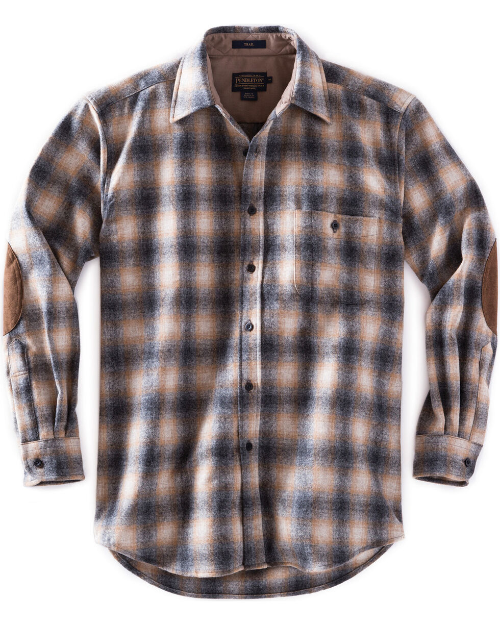 Pendleton Men's Oxford Grey Trail Shirt , Grey, hi-res