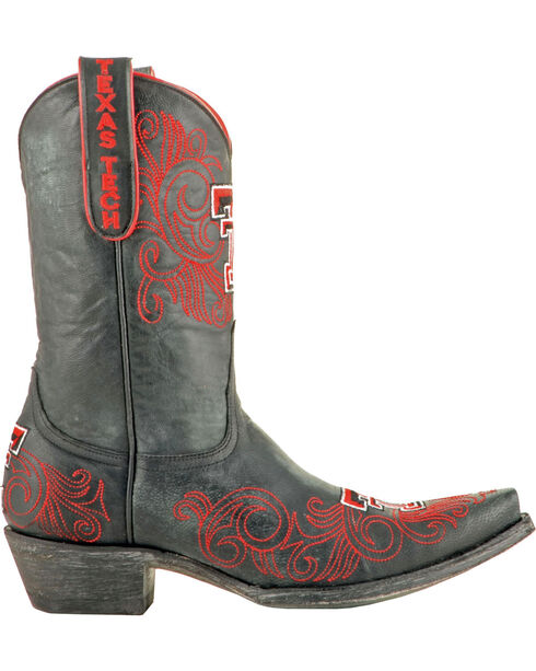 Gameday Texas Tech University Cowgirl Boots - Snip Toe, Black, hi-res