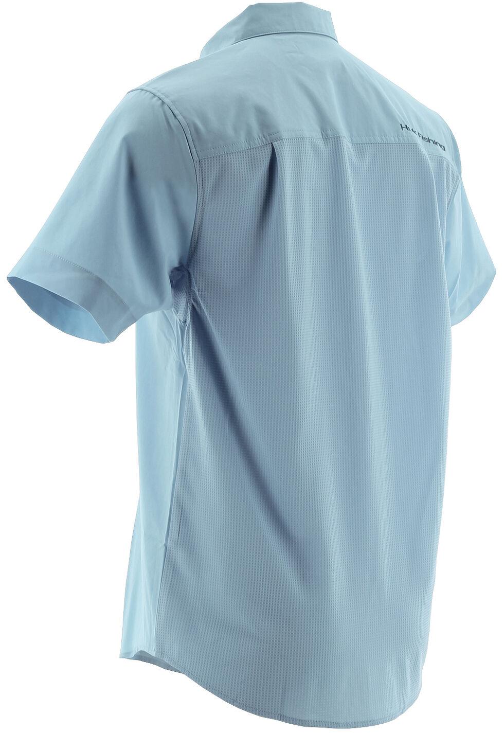 Huk Performance Fishing Men's Phenom Short Sleeve Shirt , Light Blue, hi-res