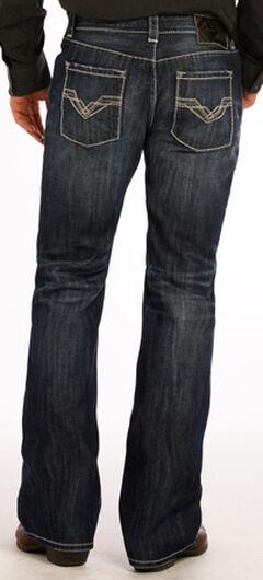 """Rock and Roll Cowboy Dark Wash """"V"""" Pistol Jeans - Boot Cut , , hi-res"""