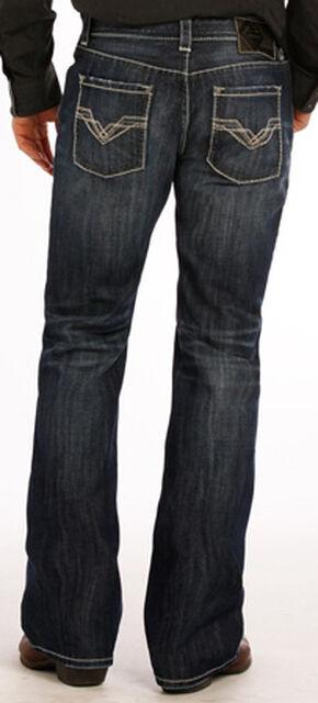 """Rock and Roll Cowboy Dark Wash """"V"""" Pistol Jeans - Boot Cut , Indigo, hi-res"""