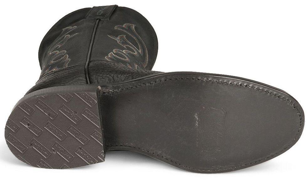 """Tony Lama 11"""" Conquistador Shoulder Boots - Round Toe, Black, hi-res"""