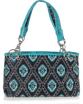 Wear NE Wear Women's Aztec Handbag, Black, hi-res