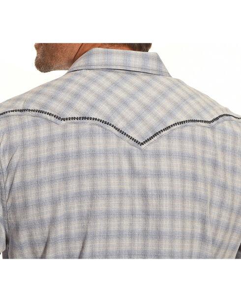 Moonshine Spirit Men's Cat Tail Blue Plaid Long Sleeve Shirt, Blue, hi-res