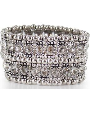 Shyanne Women's Rhinestone Cuff Bracelet, Silver, hi-res