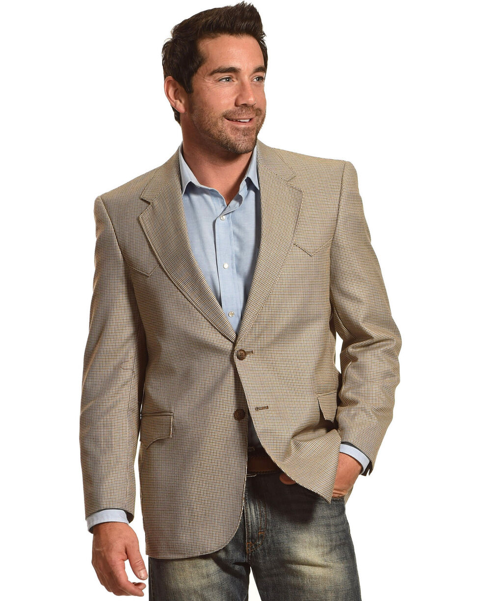 Circle S Men's Lubbock Sport Coat, Brown, hi-res
