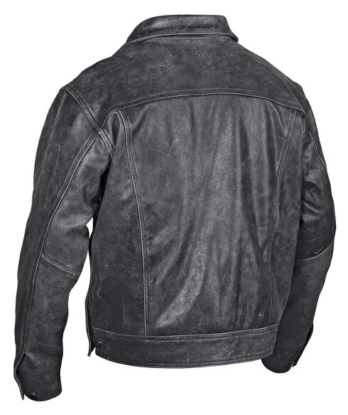 STS Ranchwear Men's Maverick Black Leather Jacket - Big & Tall - 2XL-3XL, Black, hi-res