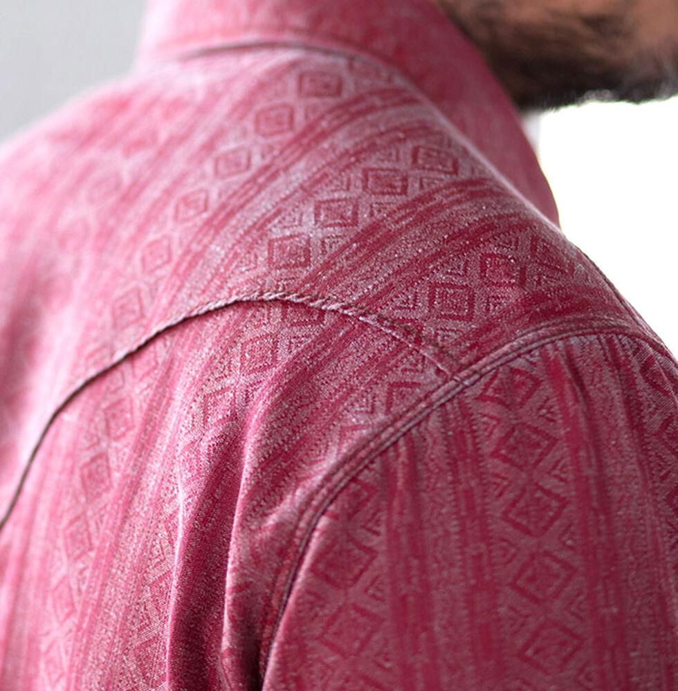 Ryan Michael Men's Beacon Blanket Silk Jacquard Shirt, Garnet, hi-res
