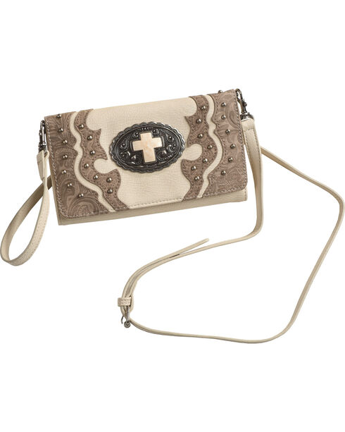 Shyanne Women's Cross Wallet Crossbody , Ivory, hi-res