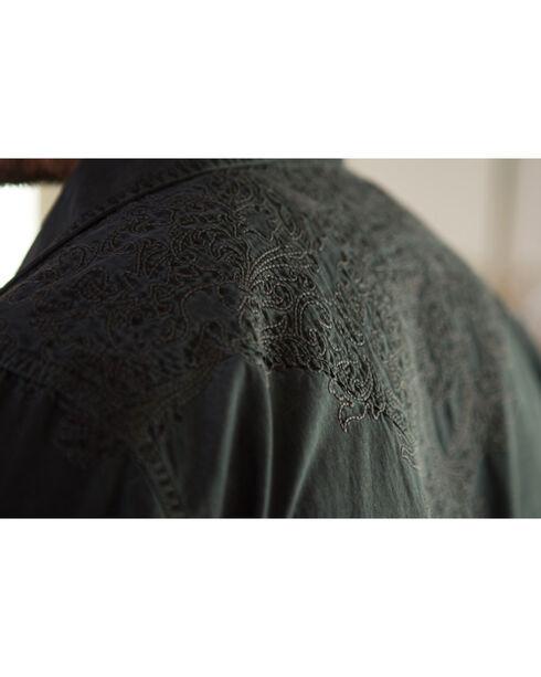 Ryan Michael Men's Caviar Aztec Embroidered Shirt , Slate, hi-res