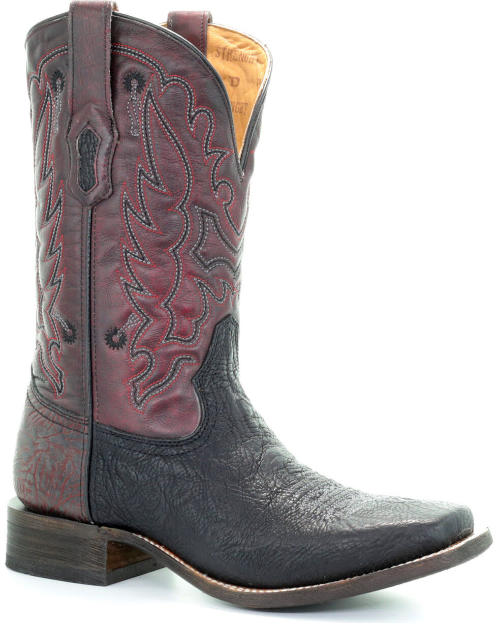 Corral Men's Tyson Durfey Performance Line TD Shark Boots - Square Toe, Black, hi-res