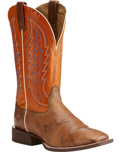 Ariat Men's Circuit Stride Western Boots - Square Toe , Brown, hi-res