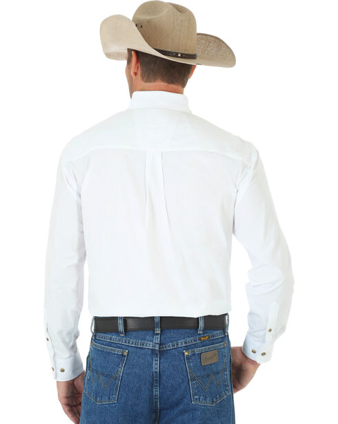Wrangler George Strait Men's White Long Sleeve Shirt - Tall, White, hi-res