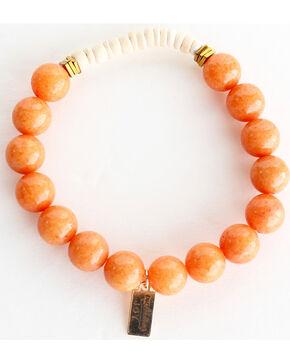 Everlasting Joy Jewelry Women's Tangerine Coconut Bracelet , Orange, hi-res