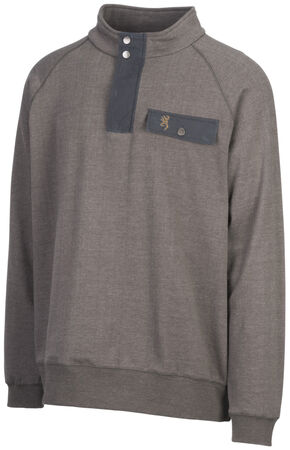 Browning Men's Olive Boulder Sweatshirt, Green, hi-res