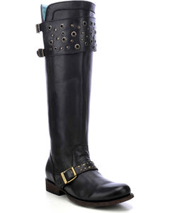 Corral Women's Eyelet Strap Harness Tall Boots - Round Toe, , hi-res