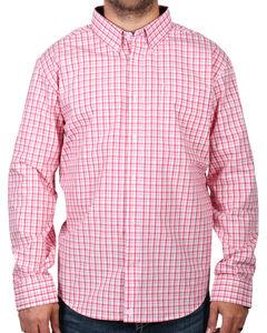Cody James Men's Check Patterned Long Sleeve Shirt - Big & Tall, Peach, hi-res