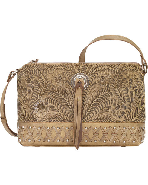 American West Women's Dove Canyon Crossbody Bag , Sand, hi-res