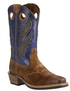Ariat Mocha Men's Venttek Heritage Roughstock Boots - Square Toe, , hi-res