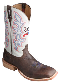 Twisted X White Hooey Cowboy Boots - Square Toe, , hi-res