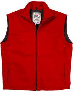 Schaefer Men's Red Arena Melton Wool Vest, Red, hi-res