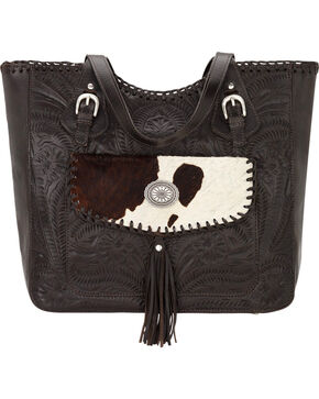 American West Chocolate Annie's Secret Concealed Carry Tote Bag, Chocolate, hi-res