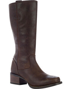 Durango Women's Charlotte Leather Boots - Square Toe, Brown, hi-res