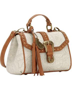 Bandana by American West Castle Rock Top Handle Convertible Flap Bag, Cream, hi-res