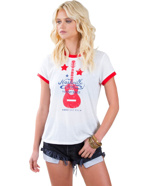 White Crow Women's Nashville T-Shirt , Red, hi-res