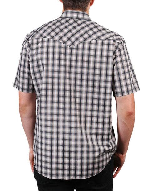 Pendleton Men's Grey Short Sleeve Ombre Plaid Shirt , Grey, hi-res