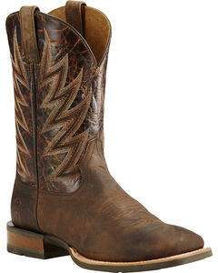 Ariat Challenger Branding Iron Brown Cowboy Boots - Square Toe, , hi-res