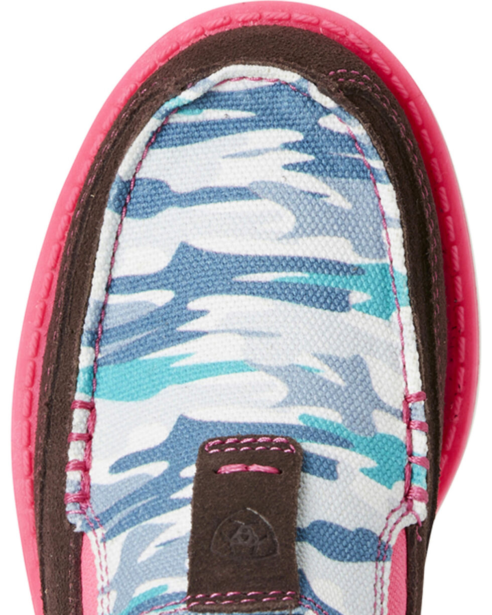 Ariat Girls' Sky Camo Print Cruiser Shoes - Moc Toe, Camouflage, hi-res