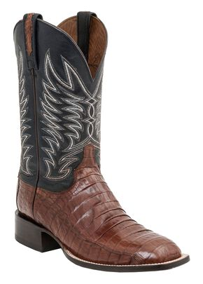 Lucchese Handcrafted 1883 Logan Caiman Belly Cowboy Boots - Crepe Sole, Sienna, hi-res