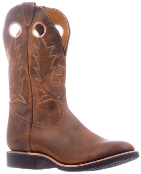 Boulet Hillbilly Golden Extralight Cowboy Boots - Round Toe , Brown, hi-res