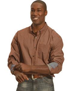Cody James Men's Maroon Diamond Print Long Sleeve Shirt , , hi-res