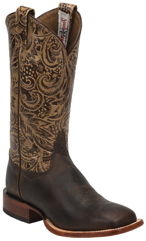 Tony Lama Brown Saigets Cowgirl Boots - Square Toe, , hi-res