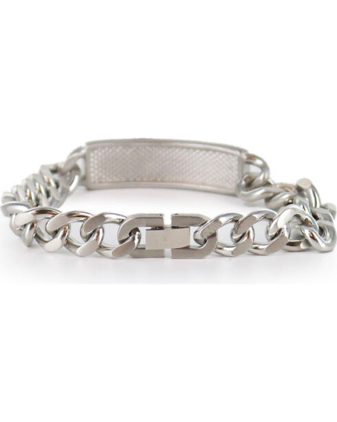 Cody James Men's Silver Cross Bracelet , Silver, hi-res