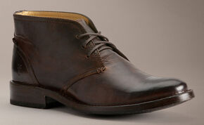 Frye Oliver Antique Chukka Shoes, Dark Brown, hi-res