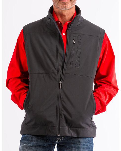 Cinch Men's Black Bonded Concealed Carry Zip Up Vest , Black, hi-res
