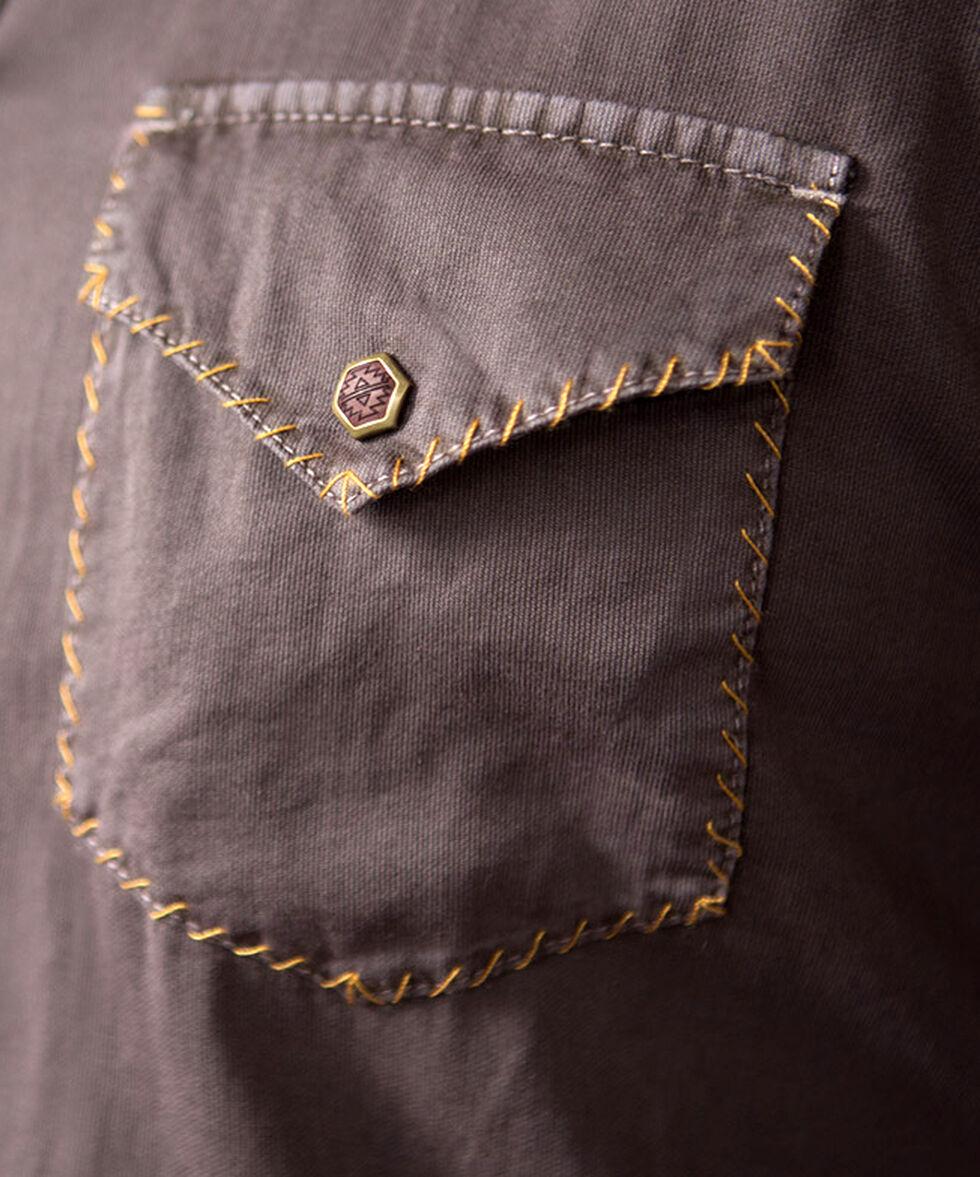 Ryan Michael Men's Textured Stripe Silk Shirt, Chestnut, hi-res