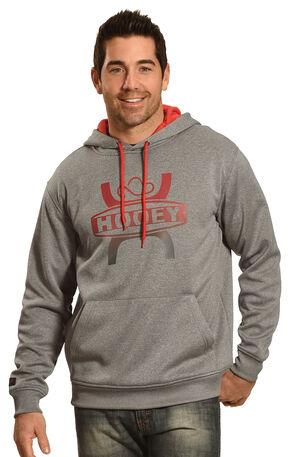 Hooey Men's Ombre Logo Hoodie, Grey, hi-res