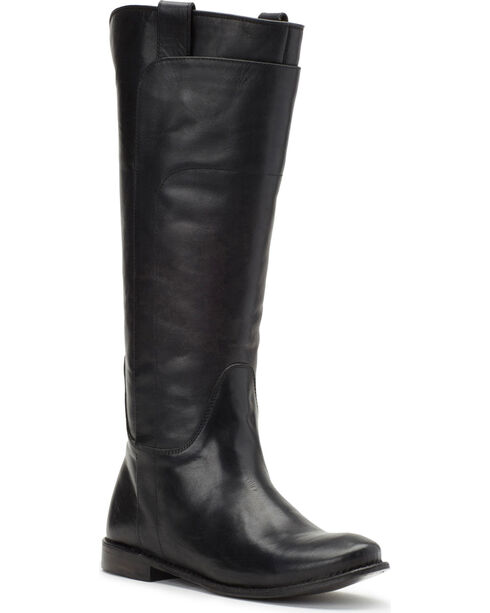 Frye Women's Black Paige Tall Riding Boots - Round Toe , Black, hi-res