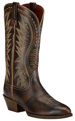 Ariat Ammorette Cowgirl Boots - Round Toe , Brown, hi-res